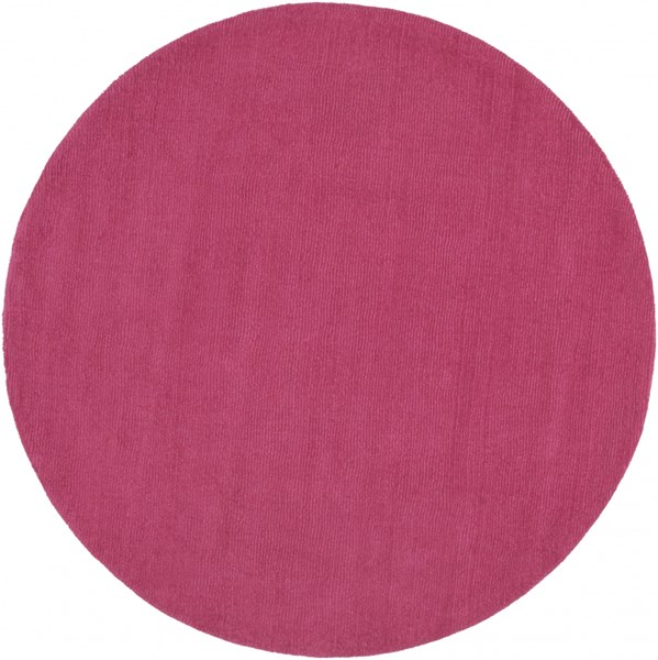 Mystique Contemporary Magenta Wool Round Area Rug (L 72 X W 72) M5327-6RD