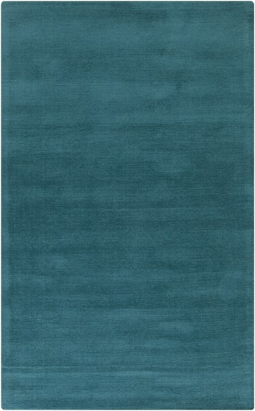 Mystique Contemporary Teal Fabric Geometric Area Rug (L 96 X W 60) M5330-58