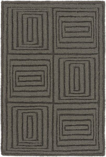 Mystique Contemporary Charcoal Taupe Wool Rugs 1499-VAR1