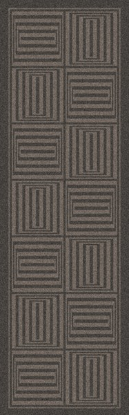 Mystique Contemporary Charcoal Wool Hand Woven Runner (L 96 X W 30) M5352-268