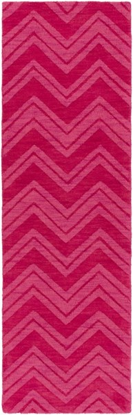 Mystique Contemporary Hot Pink Wool Runner M5358-268
