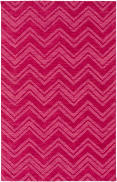 Mystique Contemporary Hot Pink Fabric Rectangle Area Rug M5358-58