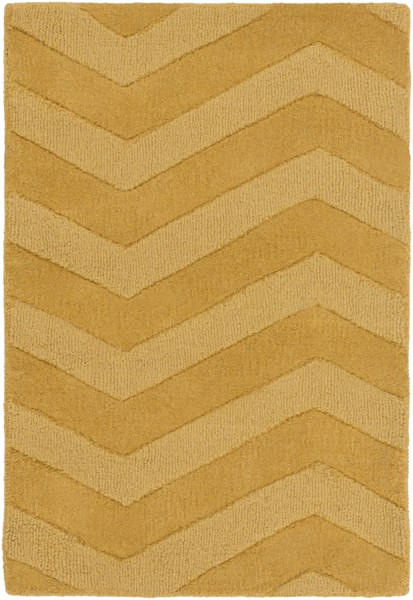 Mystique Contemporary Gold Fabric Geometric Area Rug (L 36 X W 24) M5365-23