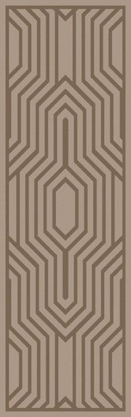 Mystique Contemporary Taupe Wool Geometric Runner (L 96 X W 30) M5368-268