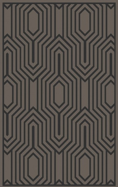 Mystique Charcoal Fabric Hand Woven Area Rug (L 96 X W 60) M5370-58