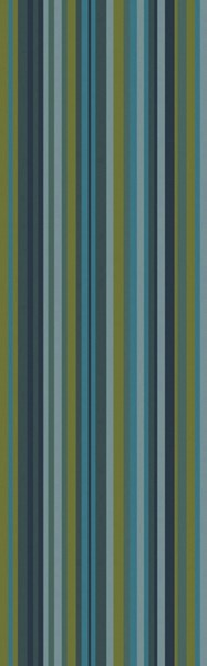 Mystique Teal Forest Moss Olive Green Wool Runner - 30 x 96 M5411-268