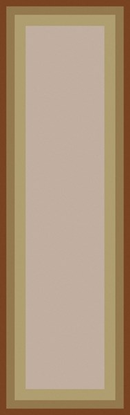 Mystique Contemporary Beige Rust Lime Wool Runner (L 96 X W 30) M5414-268