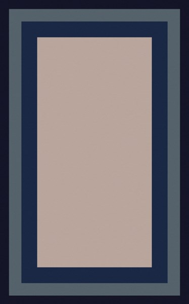 Mystique Contemporary Gray Navy Olive Wool Area Rug (L 96 X W 60) M5415-58