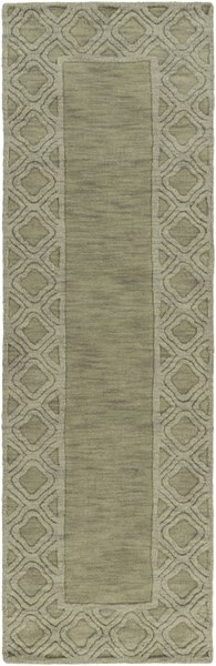 Mystique Contemporary Olive Wool Hand Woven Runner (L 96 X W 30) M5423-268