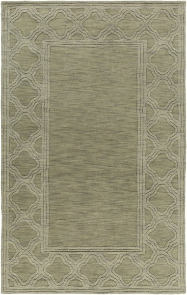 Mystique Contemporary Olive Fabric Hand Woven Area Rug (l 96 X W 60) M5423-58