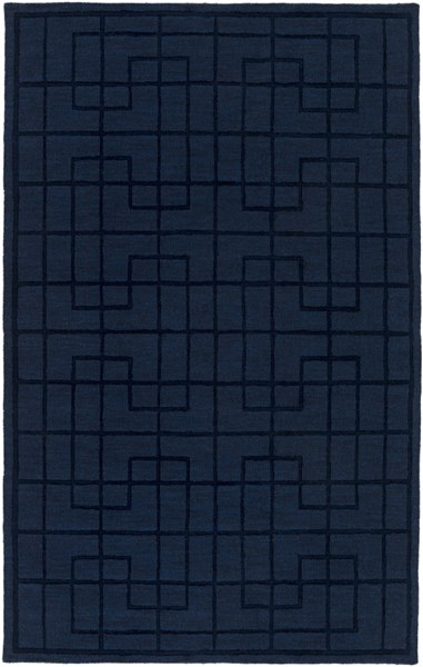 Mystique Modern Navy Fabric Rectangle Area Rug (L 96 X W 60) M5440-58