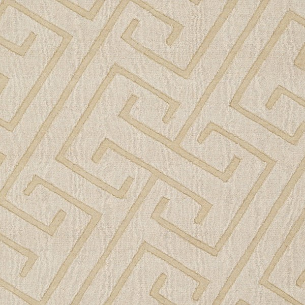 Surya Mystique Cream Hand Made Sample Area Rug 18 x 18 M5452-1616