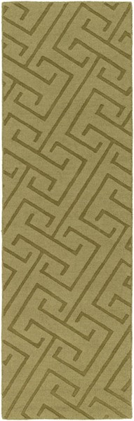 Surya Mystique Olive Hand Made Runner 96 x 30 M5454-268