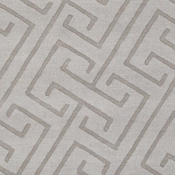 Surya Mystique Light Gray Hand Made Sample Area Rug 18 x 18 M5455-1616