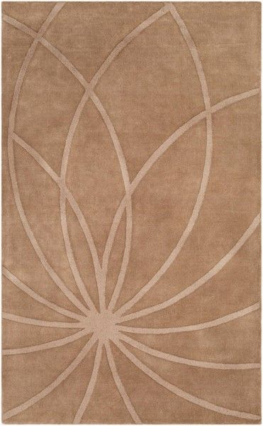 Surya Mystique Dark Brown Wool Geometric Area Rug 63 x 39 M5460-3353