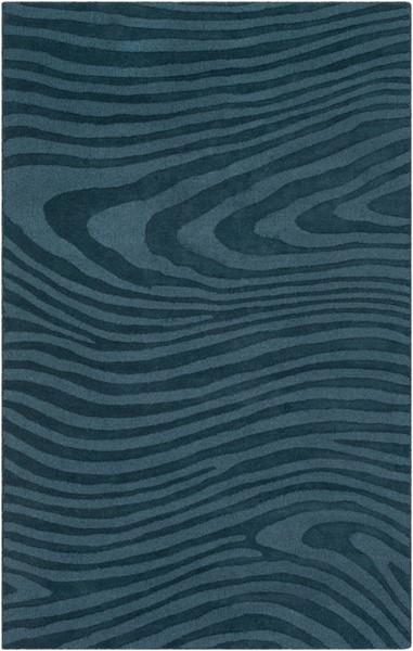 Surya Mystique Teal Wool Abstract Area Rug 63 x 39 M5463-3353