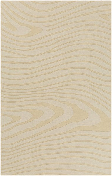 Surya Mystique Cream Wool Abstract Area Rug 63 x 39 M5464-3353