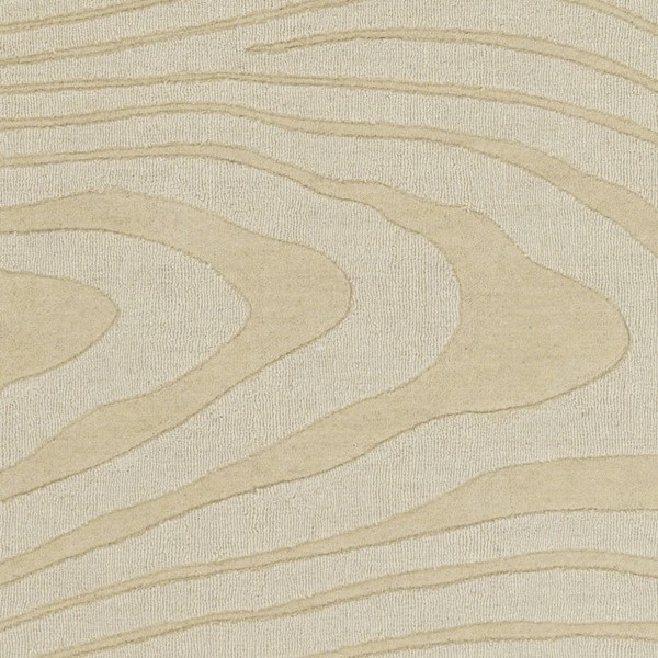 Surya Mystique Cream Wool Abstract Sample Area Rug 18 x 18 M5464-1616