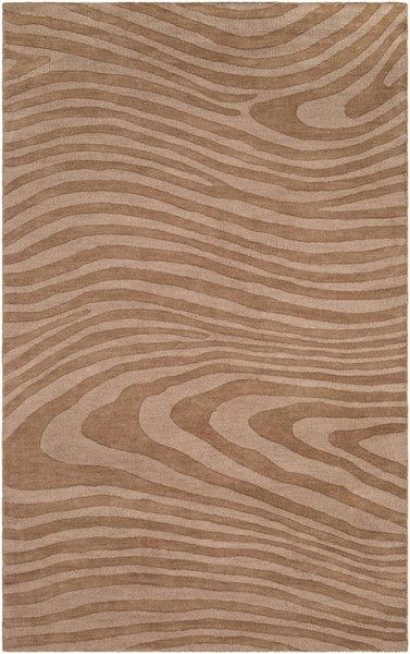 Surya Mystique Camel Wool Abstract Area Rug 132 x 96 M5465-811