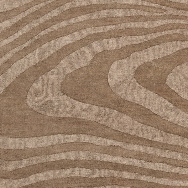 Surya Mystique Camel Wool Abstract Sample Area Rug 18 x 18 M5465-1616