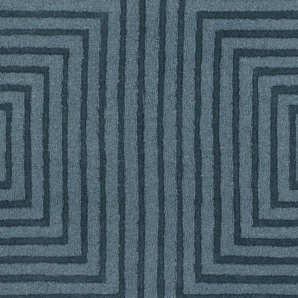 Surya Mystique Teal Wool Hand Made Sample Area Rug 18 x 18 M5466-1616