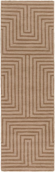 Surya Mystique Tan Wool Hand Made Runner 96 x 30 M5467-268