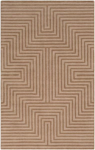 Surya Mystique Tan Wool Hand Made Area Rug 96 x 60 M5467-58