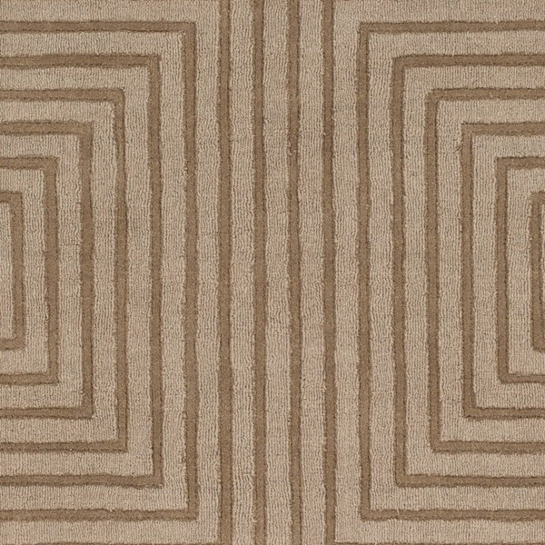 Surya Mystique Tan Wool Hand Made Sample Area Rug 18 x 18 M5467-1616