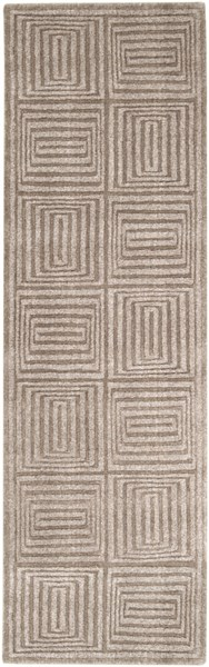 Mystique Contemporary Taupe Wool Runner (L 96 X W 30) M64-268