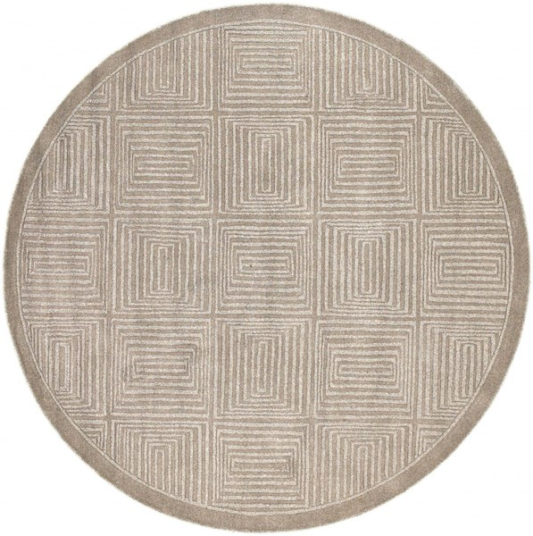 Mystique Taupe Wool Round Area Rug - 93 x 93 M64-79RD