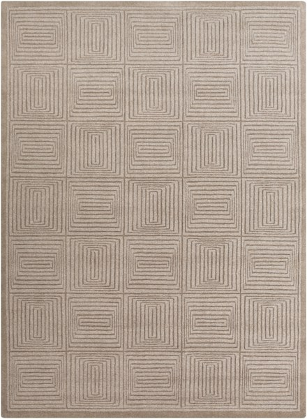 Mystique Contemporary Taupe Fabric Hand Woven Area Rug (L 132 X W 96) M64-811