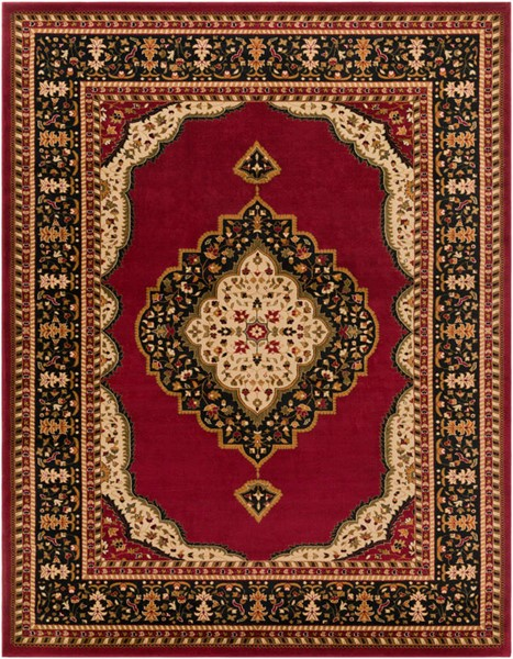 Surya Marash Dark Red Black Olive Polypropylene Area Rug 123 x 94 MAH4602-710103