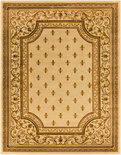 Surya Marash Khaki Tan Dark Brown Polypropylene Area Rug 123 x 94 MAH4604-710103
