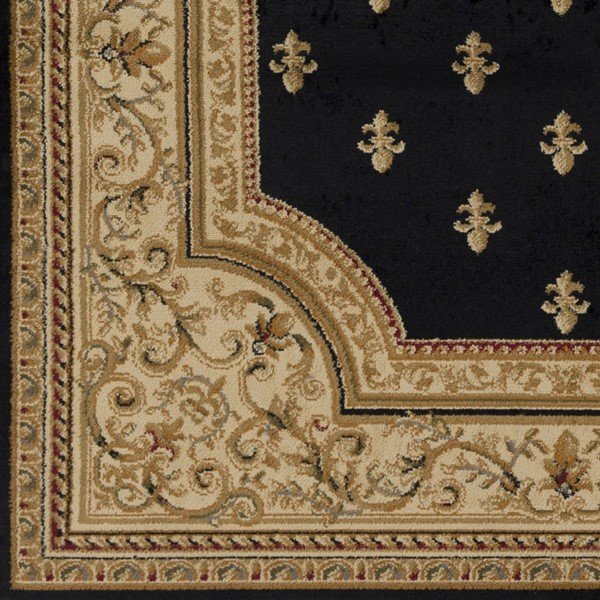 Surya Marash Black Khaki Tan Polypropylene Sample Area Rug 18 x 18 MAH4607-1616