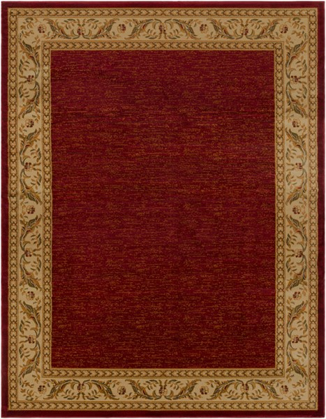 Surya Marash Dark Red Khaki Tan Polypropylene Area Rug 123 x 94 MAH4610-710103