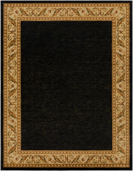 Surya Marash Black Khaki Burnt Orange Polypropylene Area Rug 123 x 94 MAH4611-710103