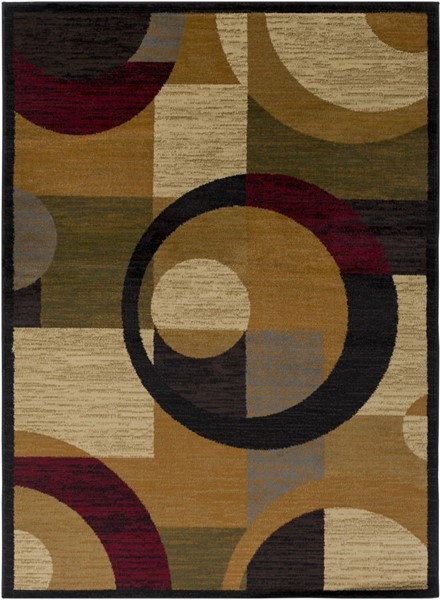 Surya Marash Burnt Orange Dark Red Black Polypropylene Rugs MAH4612-RUG-VAR