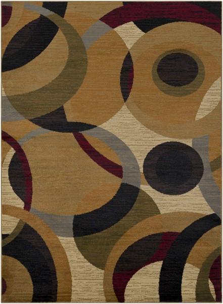 Surya Marash Burnt Orange Tan Khaki Polypropylene Area Rug 87 x 63 MAH4614-5373