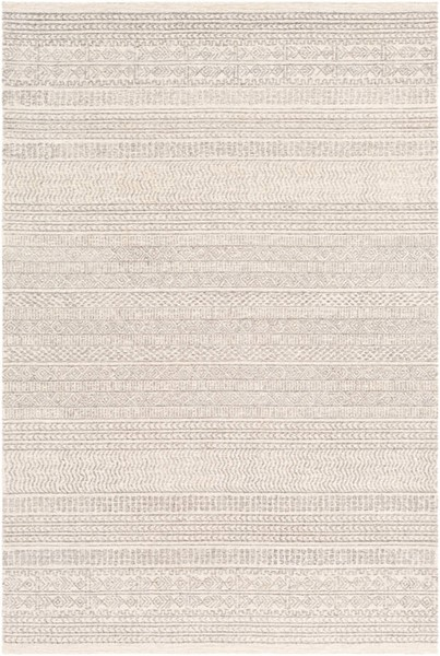 Surya Maroc Medium Gray Cream Khaki Wool Rugs MAR2303-RUG-VAR