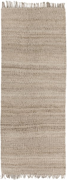 Maui Contemporary Taupe Fabric Hand Woven Runner MAU3002-268