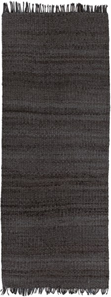 Maui Contemporary Charcoal Fabric Hand Woven Runner MAU3004-268
