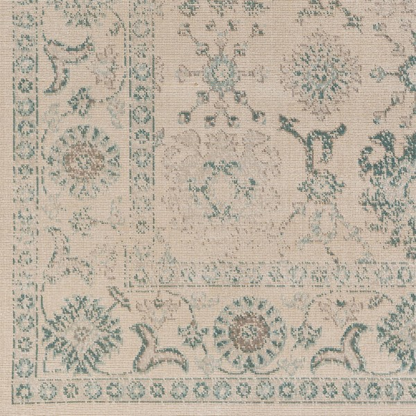 Surya Mavrick Teal Taupe Beige Machine Made Sample Area Rug 18 x 18 MAV7013-1616