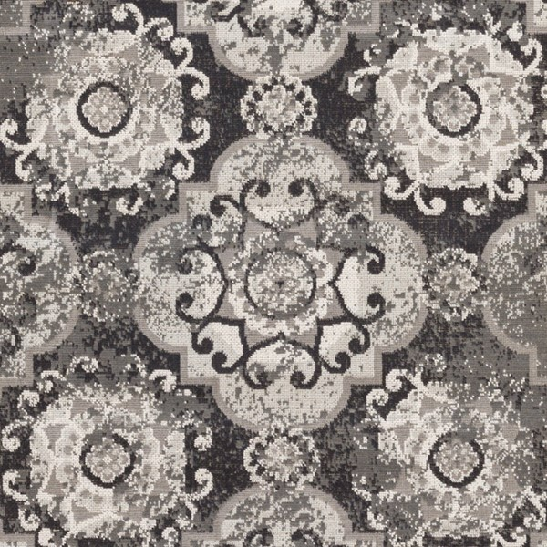 Surya Mavrick Charcoal Taupe Black Polypropylene Sample Area Rug 18 x 18 MAV7017-1616