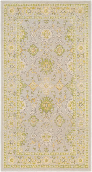Surya Mavrick Lime Light Gray Wheat Machine Made Area Rug 60 x 32 MAV7035-285