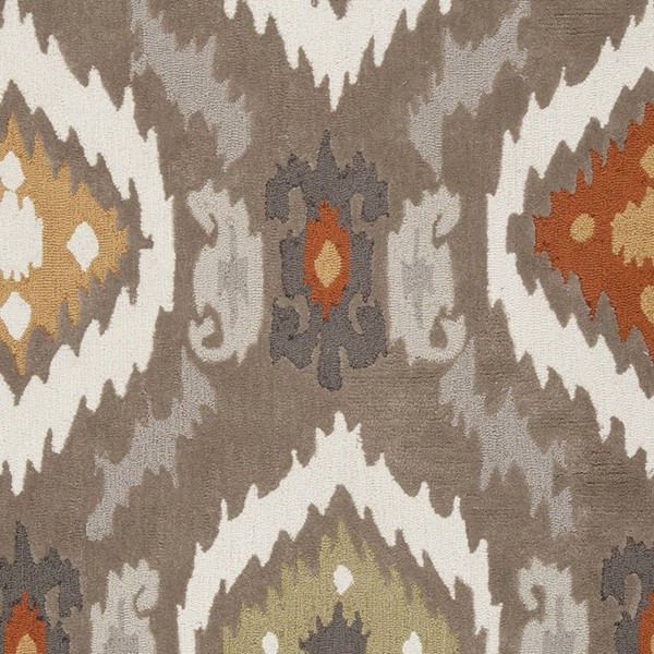 Surya Mamba Dark Brown Khaki Burnt Orange Polyester Sample Area Rug 18 x 18 MBA9001-1616