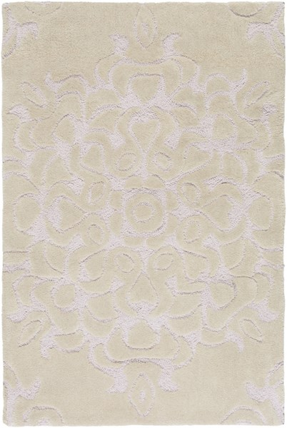 Mamba Contemporary Beige Polyester Hand Tufted Area Rug 730-VAR1