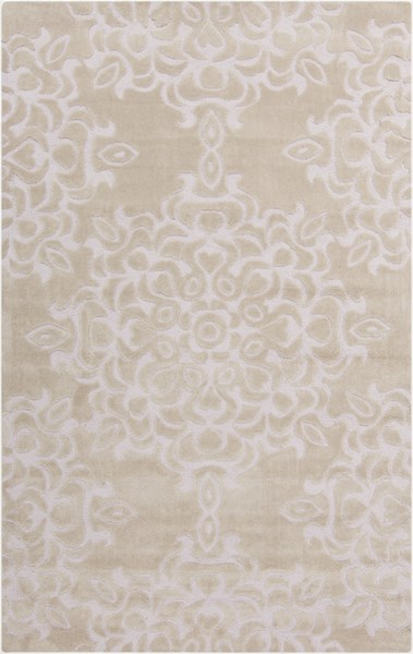 Mamba Contemporary Beige Polyester Hand Tufted Area Rug (L 96 X W 60) MBA9013-58