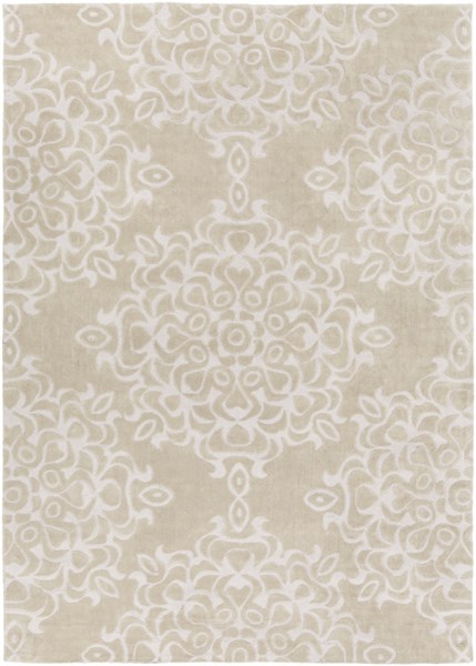 Mamba Contemporary Beige Polyester Area Rug MBA9013-811