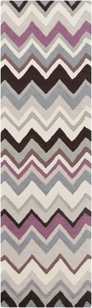 Mamba Contemporary Gray Chocolate Moss Polyester Rugs 1428-VAR1