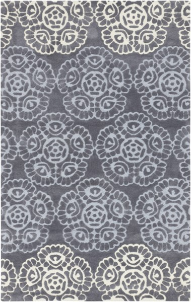 Mamba Contemporary Light Gray Butter Polyester Area Rug (L 96 X W 60) MBA9019-58
